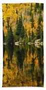 Autumn Reflections At Bear Lake Beach Towel