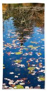 Autumn Reflections Beach Towel by Bill Wakeley