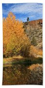 Autumn Reflections In The Susan River Canyon Beach Towel