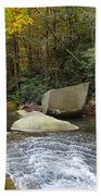 Autumn River Fall Beach Towel