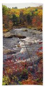 Autumn River Beach Towel by Joann Vitali
