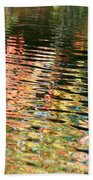 Autumn River Water Reflections  Beach Towel