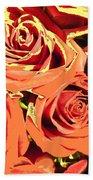Autumn Roses On Your Wall Beach Towel