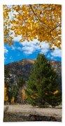 Autumn Scene Framed By Aspen Beach Sheet