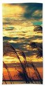 Autumn Skies Over The Ocean Beach Towel