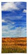 Autumn Sky Impasto Beach Sheet