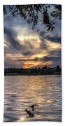 Autumn Sky Beach Towel