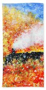 Autumn Snow Beach Towel