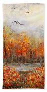 Autumn Song Beach Towel