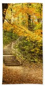 Autumn Stairs Beach Towel