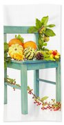 Autumn Still Life Chair Beach Towel