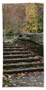 Autumn Stone Staircase Beach Towel