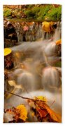 Autumn Stream Beach Towel