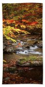 Autumn Stream Square Beach Sheet
