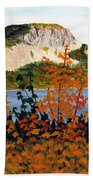 Autumn Sunset On The Hills Beach Towel by Barbara Griffin