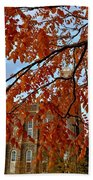 Autumn Temple Beach Towel