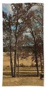 Autumn Texas Pasture Beach Towel