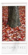 Autumn Tree Poster Beach Towel