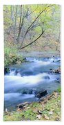 Autumn Tributary Beach Towel