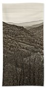 Autumn Valley Sepia Beach Towel