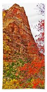 Autumn View Along Zion Canyon Scenic Drive In Zion National Park-utah Beach Towel