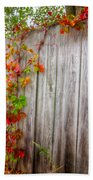 Autumn Vines Beach Towel