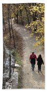 Autumn Walk On The C And O Canal Towpath Beach Towel