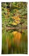 Autumn Watercolor Reflections Beach Towel