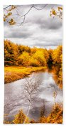 Autumn White Mountains Maine Beach Towel