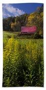 Autumn Wildflowers Beach Towel by Debra and Dave Vanderlaan