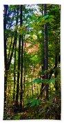 Autumn Wood Beach Sheet