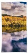 Autumnal Reflections Beach Towel