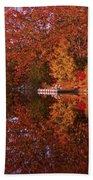 Autumn's Reflection Beach Towel