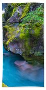 Avalanche Creek Gorge Beach Towel