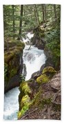 Avalanche Creek In Glacier Np-mt Beach Towel