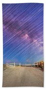 Avalon Star Trails  Beach Towel