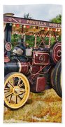Aveling And Porter Showmans Tractor Beach Towel