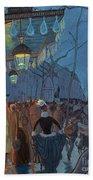 Avenue De Clichy Paris Beach Towel by Louis Anquetin