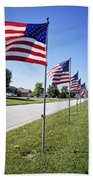 Avenue Of The Flags Beach Towel