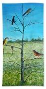 Aves En Comarca Del Sol Beach Towel