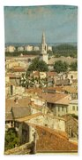 Avignon From Les Roches Beach Towel