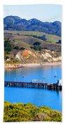 Avila Beach California Fishing Pier Beach Towel