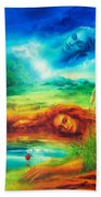 Awakening Blue Beach Towel