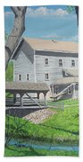 Award-winning Painting Of Beckman's Mill Beach Towel by Norm Starks