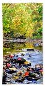 Awesome Autumn  Beach Towel