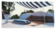Awning At The Vacation Home Of Gaston Berthelot Beach Towel