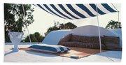 Awning At The Vacation Home Of Gaston Berthelot Beach Sheet