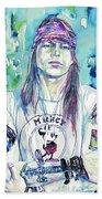 Axl Rose Portrait.1 Beach Towel