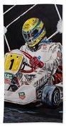 Ayrton Senna Karting Beach Towel