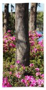 Azalea At The Lake Beach Towel